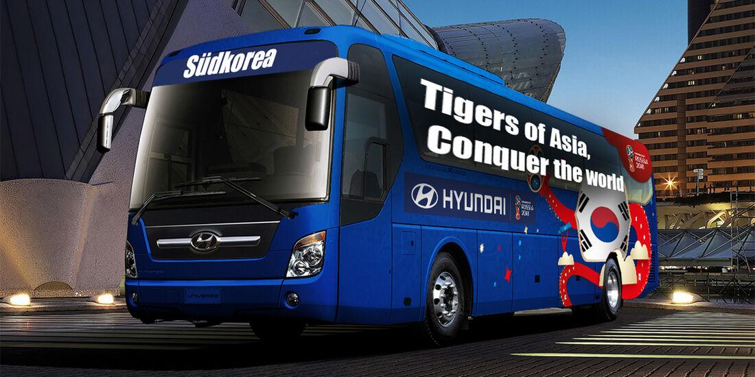 Hyundai WM-Busse Slogan Südkorea