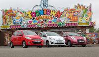 Hyundai i10 1.1 Style, Reault Twingo 1.2 16V Night & Day, Suzuki Alto 1.0 Club, Karusell, Frontansicht