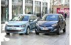 Hyundai i20 Blue 1.1 CRDi Trend, VW Polo 1.2 TDI Blue Motion 87G, Frontansicht