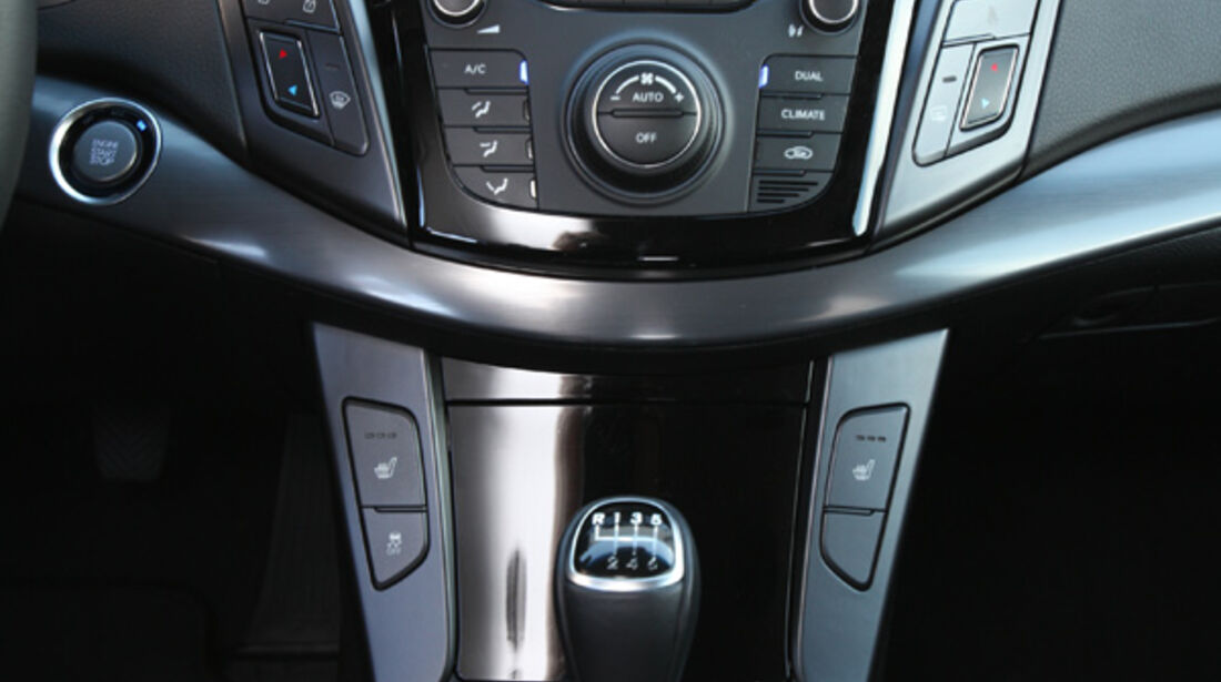 Hyundai i40 cw, Mittelkonsole