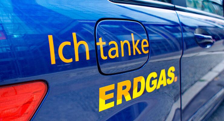 Ich tanke Erdgas