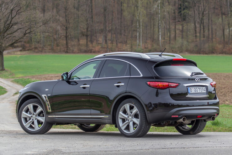 infiniti qx70 5 0 awd s im test auto motor und sport. Black Bedroom Furniture Sets. Home Design Ideas