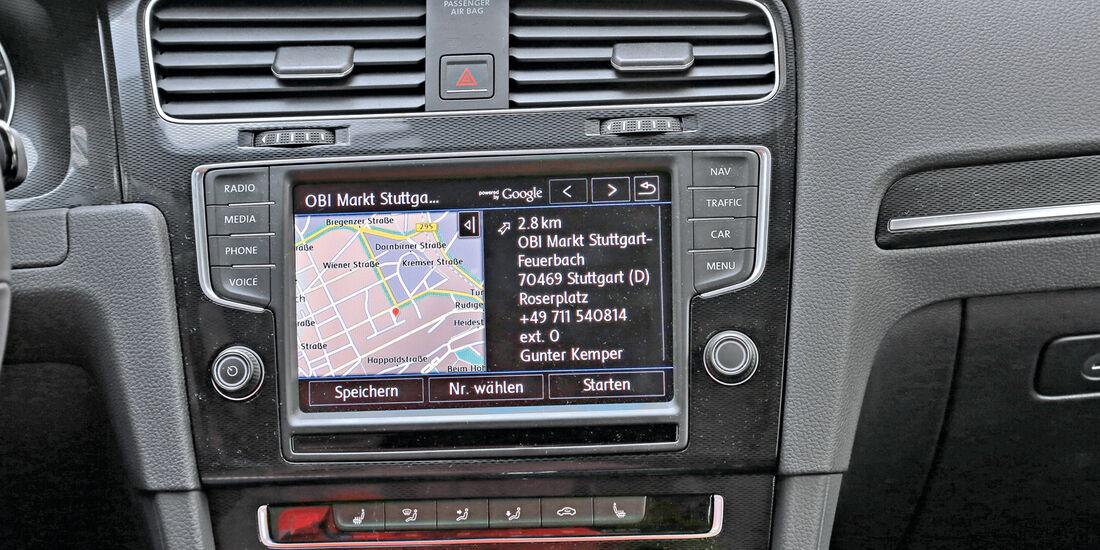 Infotainment, VW Golf, Google, Navigation