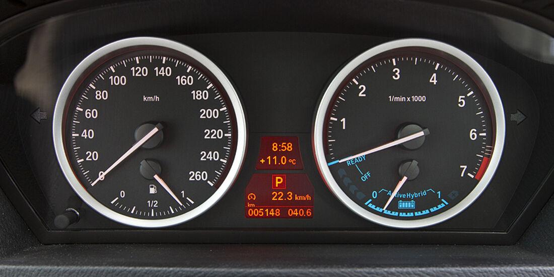 Instrumente des BMW Active Hybrid X6