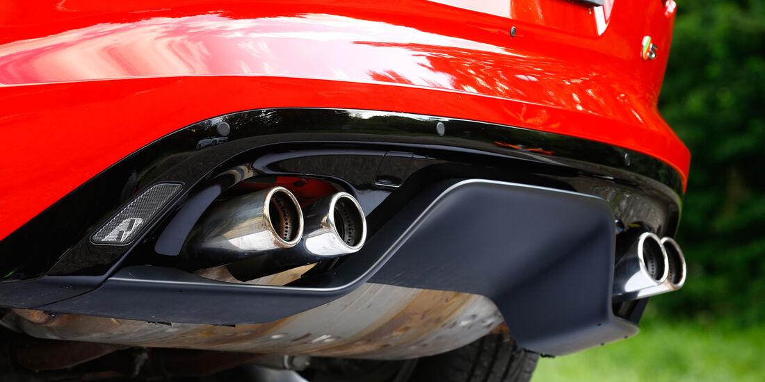 Jaguar F-Type V8 S, Auspuff, Endrohre