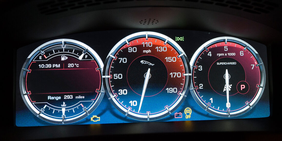 Jaguar XJR, Rundinstrumente
