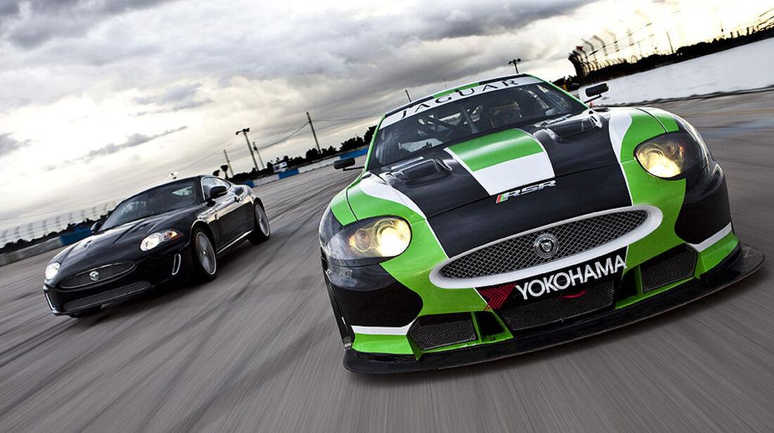Jaguar XKR 75 und Jaguar RSR GT