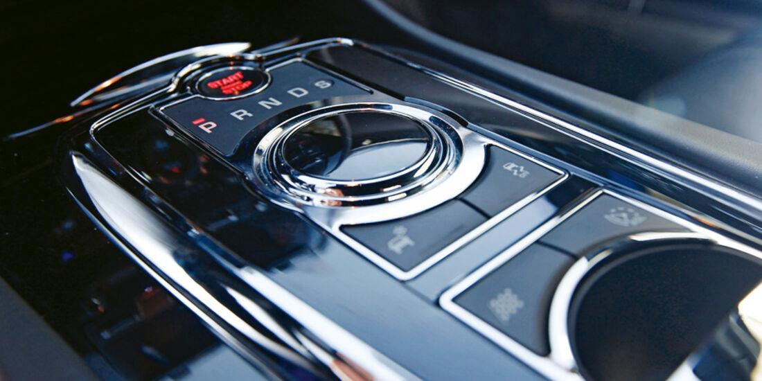 Jaguar XKR-S, Mittelkonsole