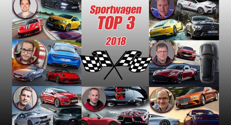 Jahresrückblick Sportwagen Top 3 Titel Collage Teaser klein