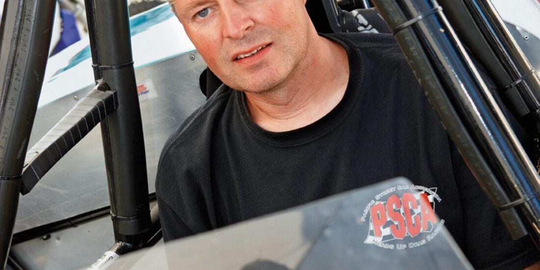 Jan Herdekopf im MGA-Dragster bei den NitrolympX Hockenheim 2009