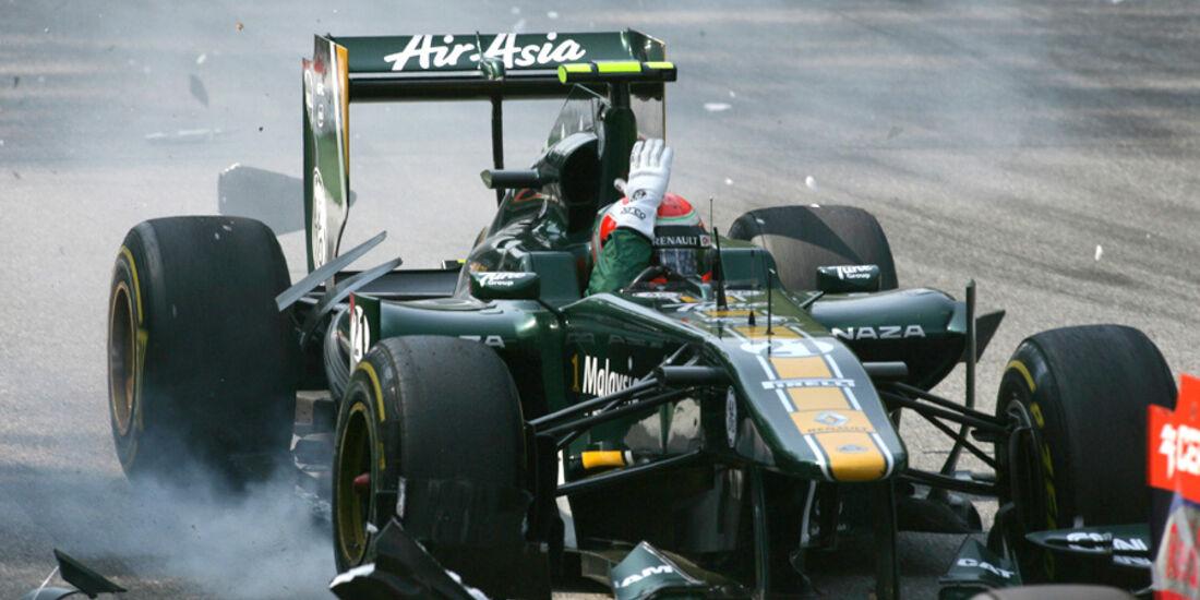 Jarno Trulli GP Italien Crashs 2011