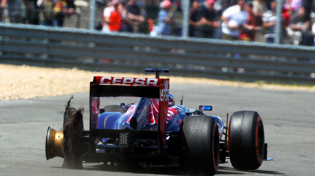 Jean-Eric Vergne - Reifenschaden GP England 2013