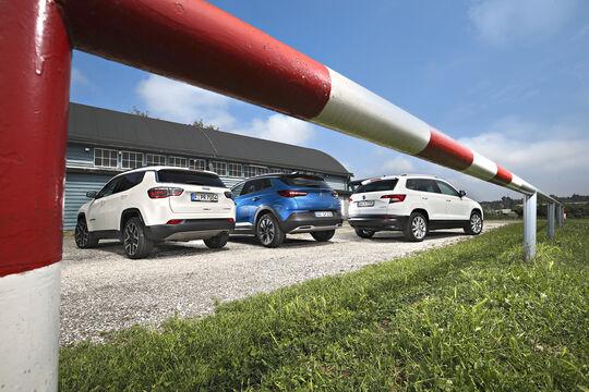 Jeep Compass, Opel Grandland X, Skoda Karoq Exterieur