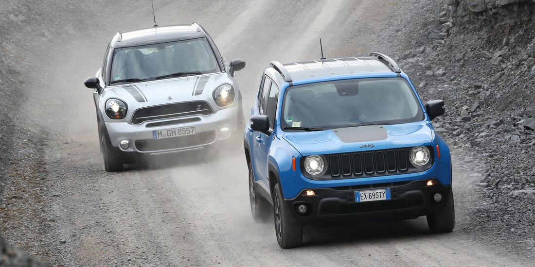 Jeep Renegade, Mini Countryman, Frontansicht