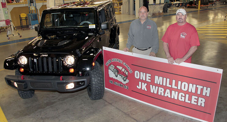 Jeep Wrangler 10th. Anniversary – Einmillionster Jeep Wrangler