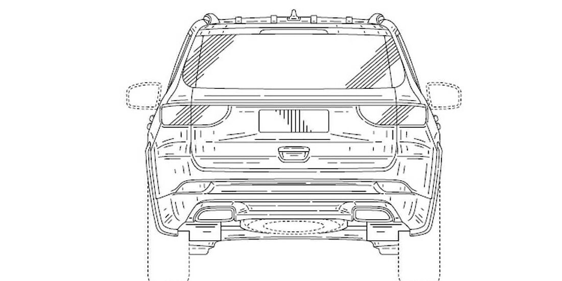 Jeep Yuntu Grand Commander Patentzeichnung