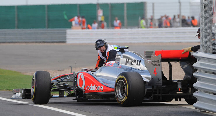 Jenson Button GP England 2011 Rennen