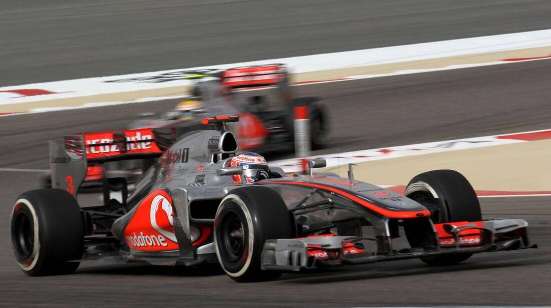 Jenson Button - Lewis Hamilton  - Formel 1 - GP Bahrain - 22. April 2012