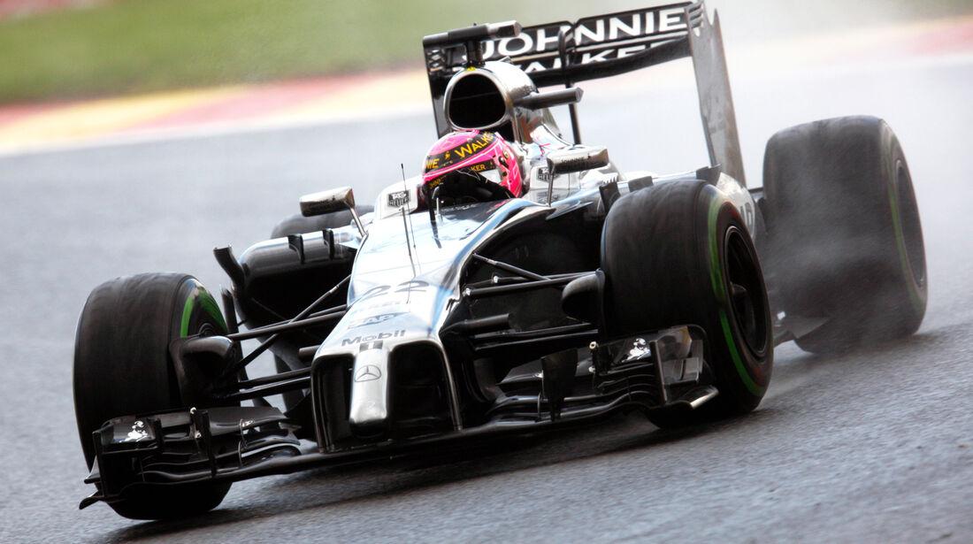 Jenson Button - McLaren - Formel 1 - GP Belgien - Spa-Francorchamps - 23. November 2014