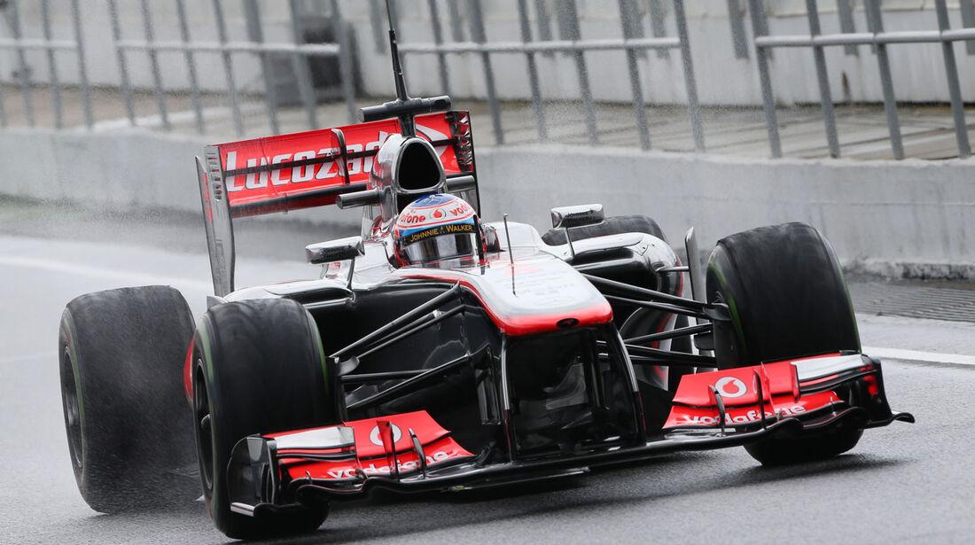 Jenson Button, McLaren, Formel 1-Test, Barcelona, 01. März 2013