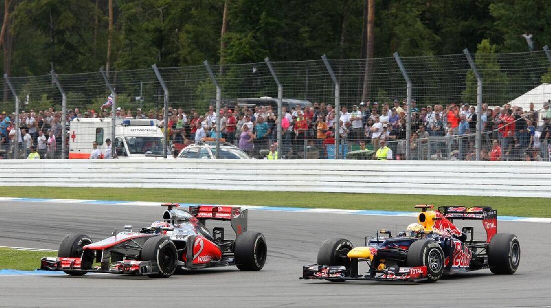 Jenson Button Sebastian Vettel - Formel 1 - GP Deutschland - 22. Juli 2012