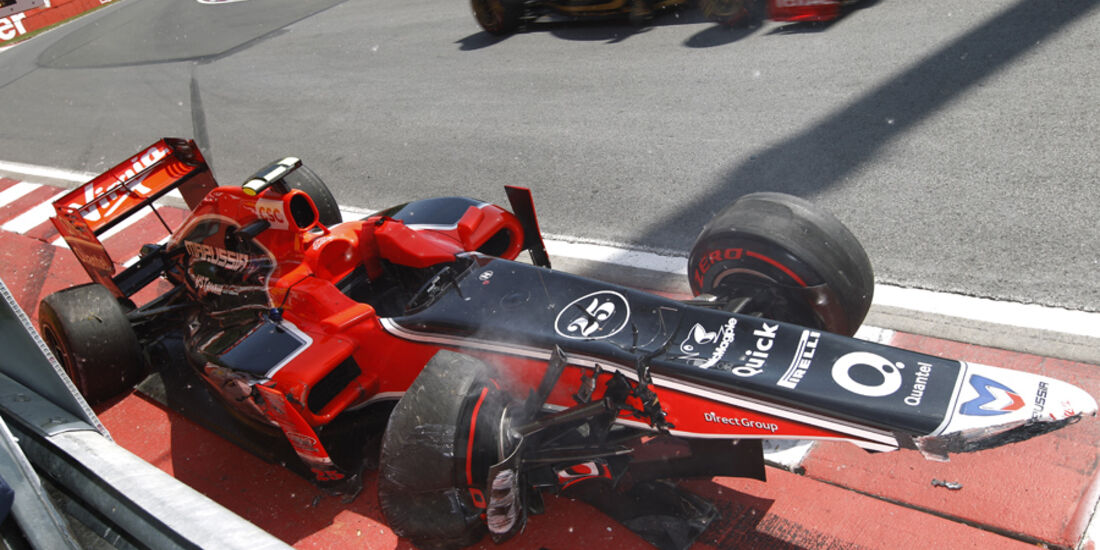 Jerome D'Ambrosio GP Kanada Crashs 2011