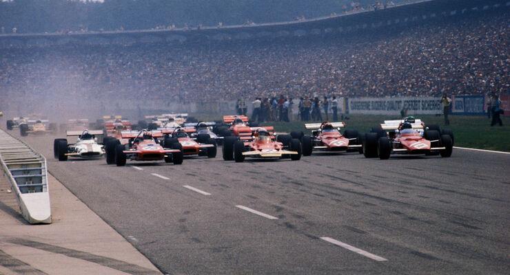 Jo Siffert - March 701 - Jochen Rindt - Lotus 72C - Jacky Ickx - Ferrari 312B - GP Deutschland 1970 - Hockenheim