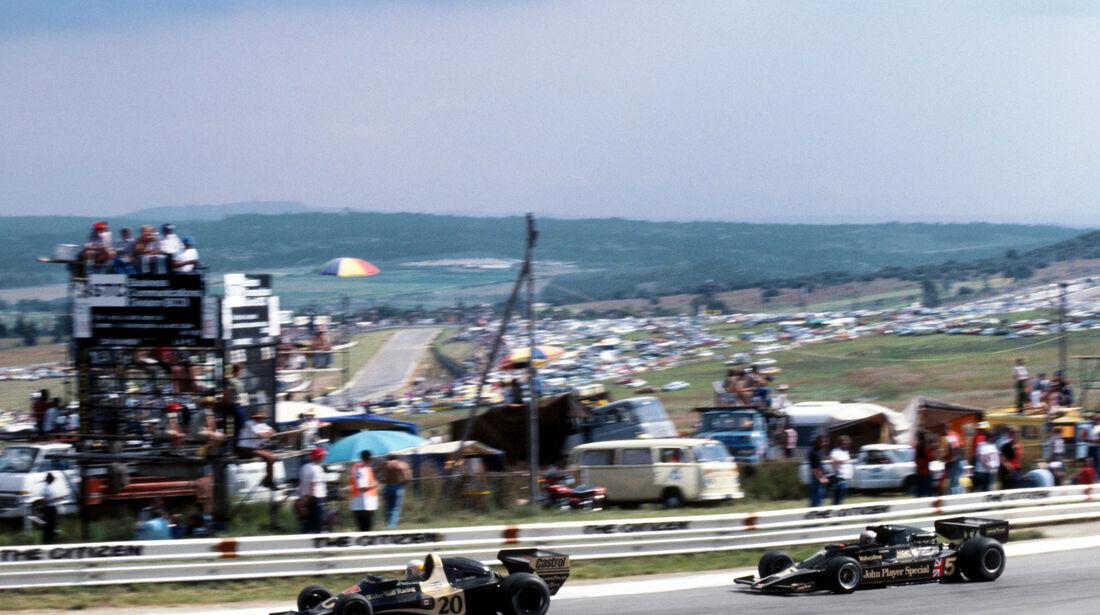 Jody Scheckter - Wolf WR1 - Mario Andretti - Lotus 78 - GP Südafrika 1978 - Kyalami