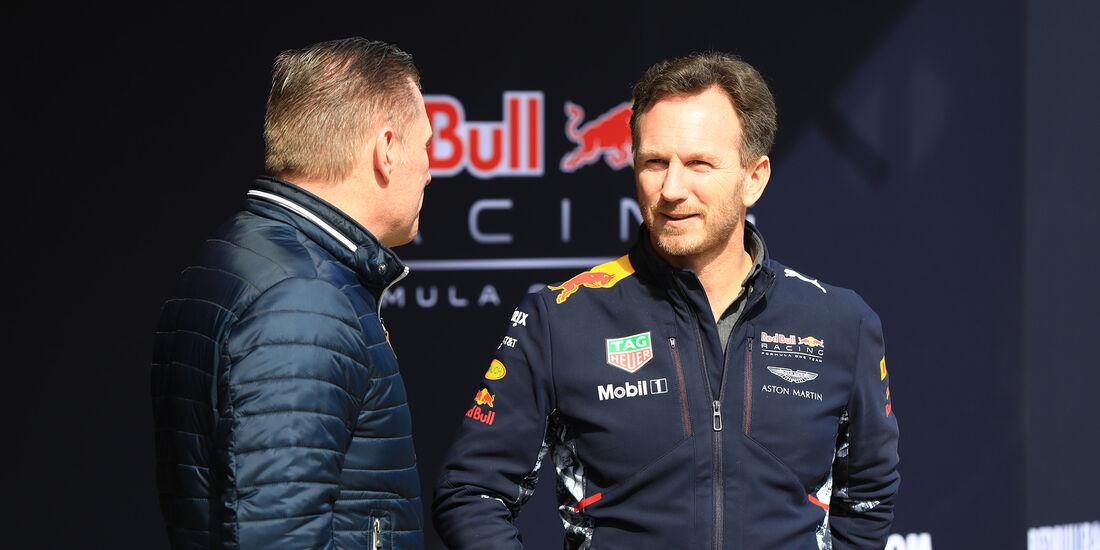 Jos Verstappen & Christian Horner - Red Bull - Formel 1 - Test - Barcelona - 2. März 2017