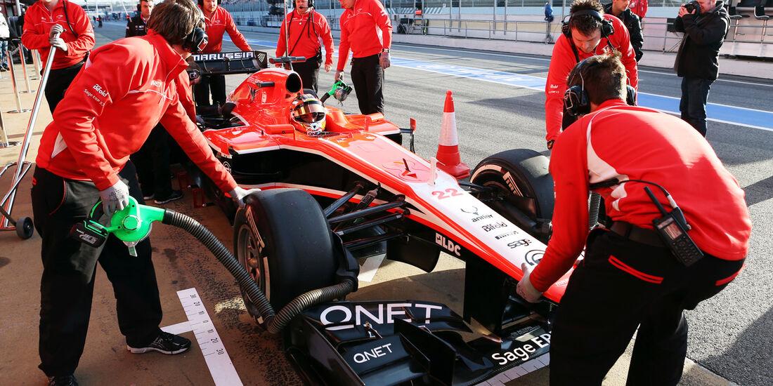Jules Bianchi - Marussia - Formel 1 - Test - Barcelona - 2. März 2014