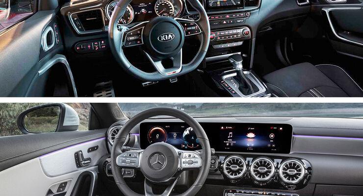 Kaltvergleich Mercedes CLA Shootingbrake Kia Proceed Genf Autosalon 2019