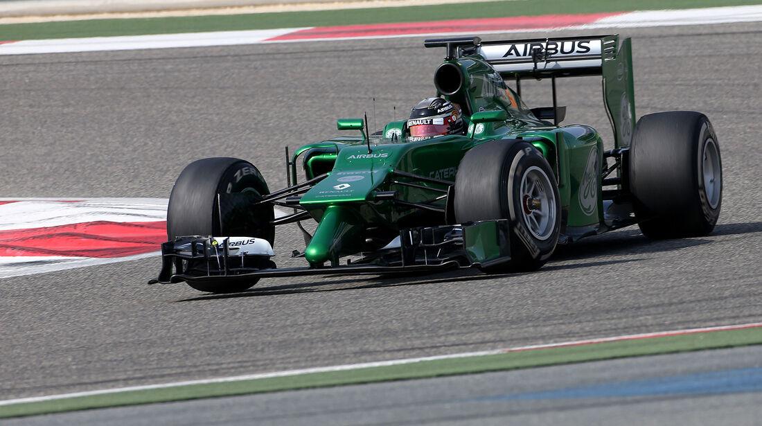 Kamui Kobayashi - Caterham - Formel 1 - Test - Bahrain - 27. Februar 2014