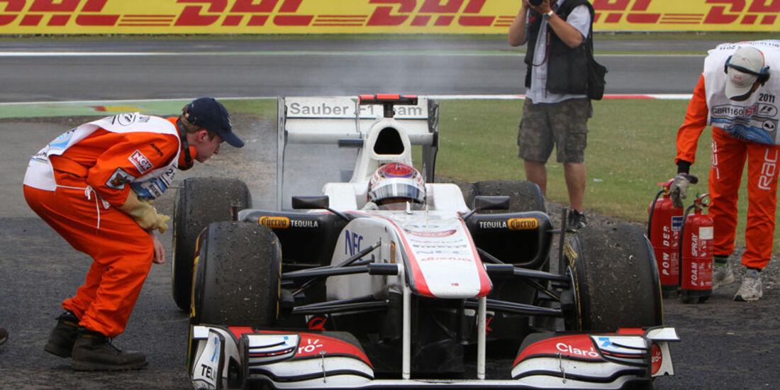 Kamui Kobayashi GP England 2011 Rennen