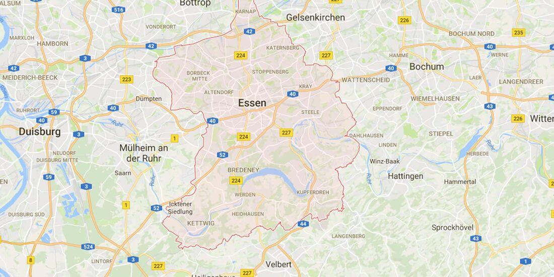Karte Essen