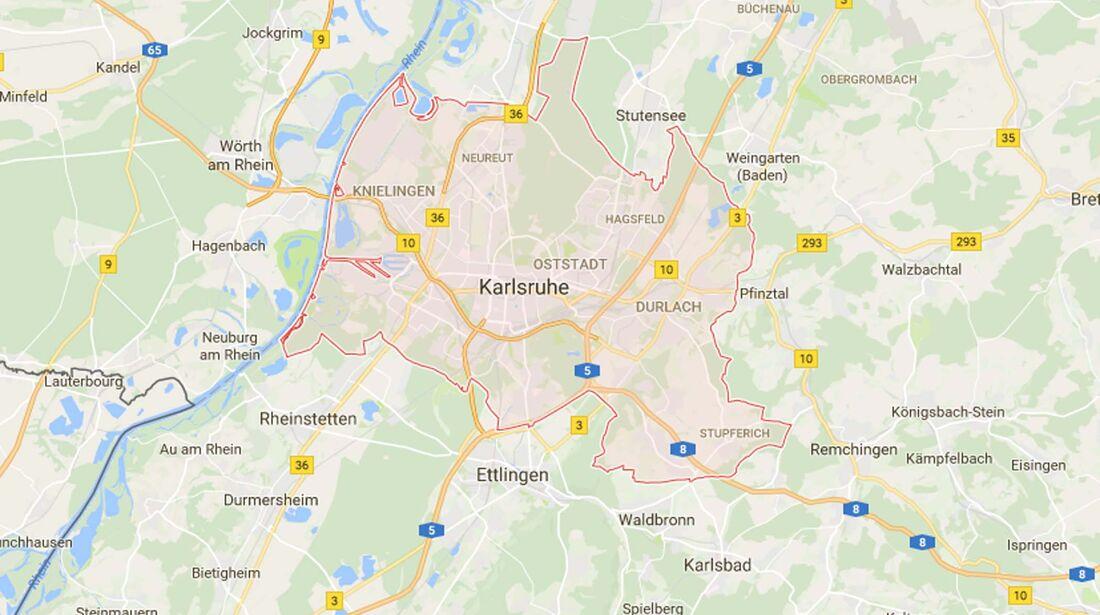 Karte Karlsruhe