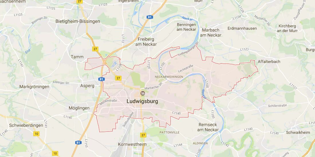 Karte Ludwigsburg