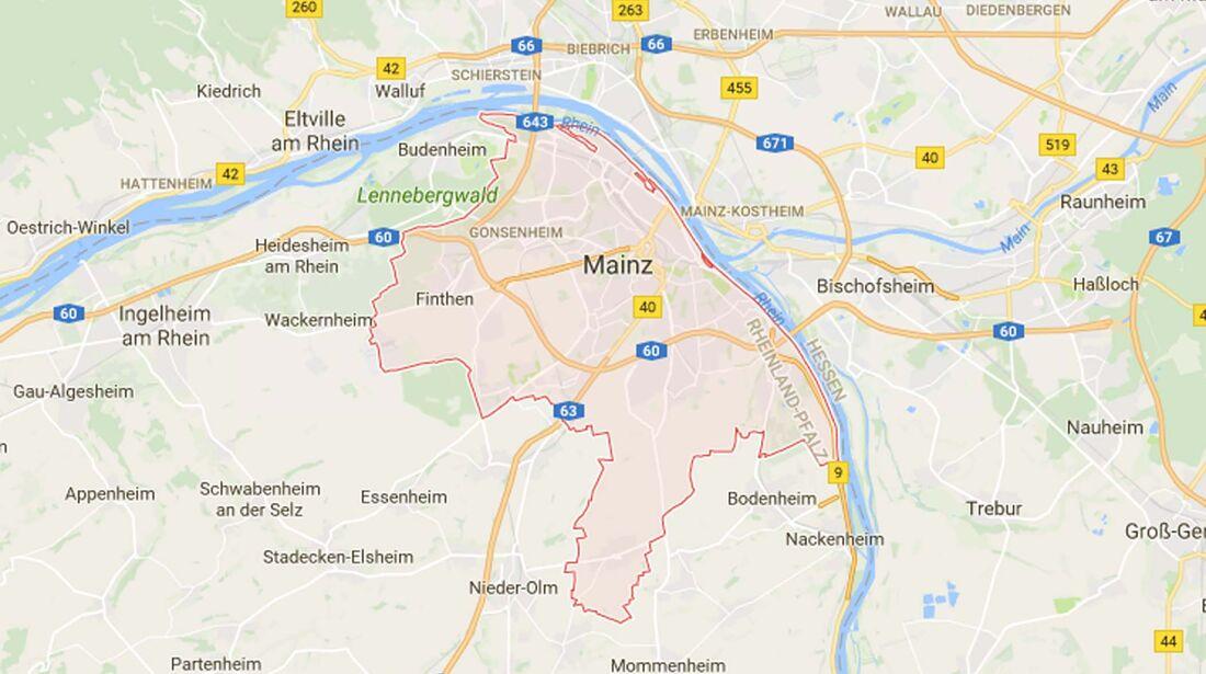 Karte Mainz