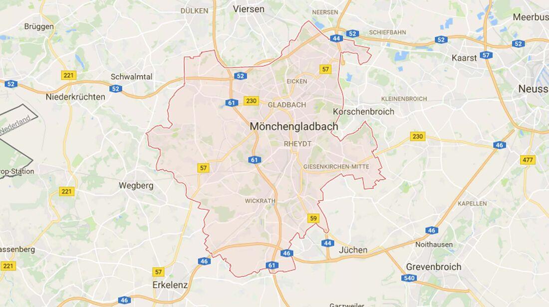 Karte Mönchengladbach