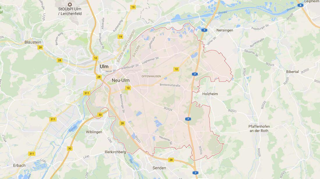 Karte Neu-Ulm