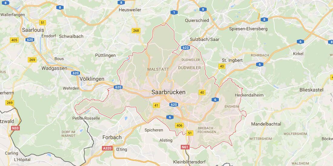 Karte Saarbrücken