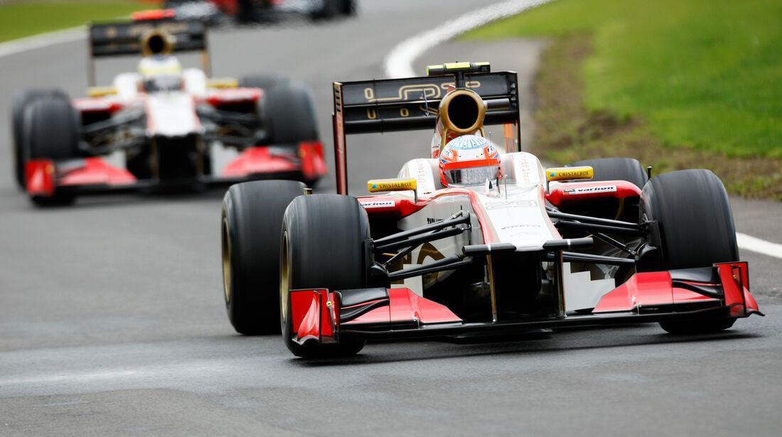 Kartikeyan De la Rosa HRT GP England 2012