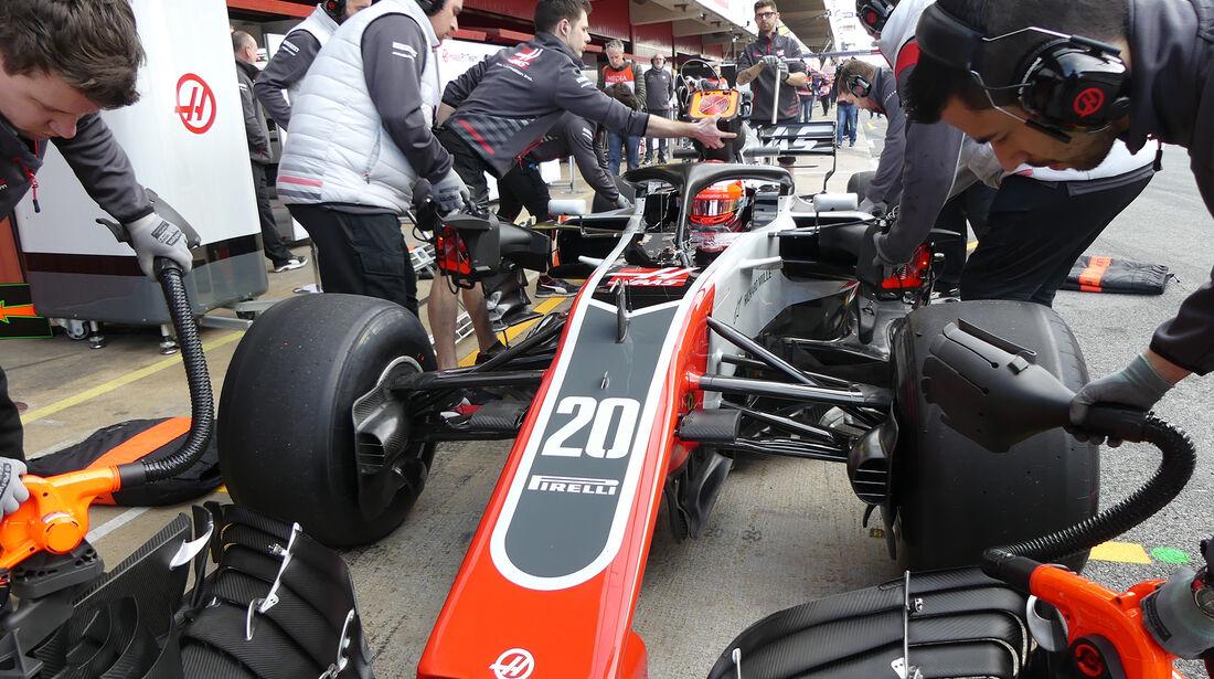 Kevin Magnussen - HaasF1 - F1-Test - Barcelona - Tag 7 - 8. März 2018