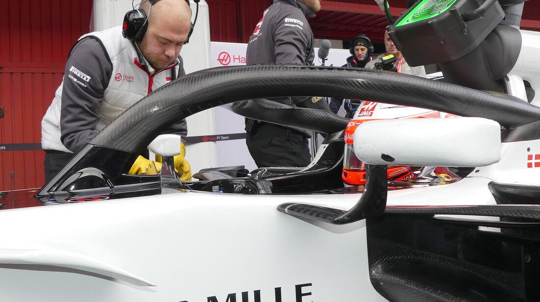 Kevin Magnussen - HaasF1 - Formel 1 Test - Barcelona - Tag 4 - 1. März 2018