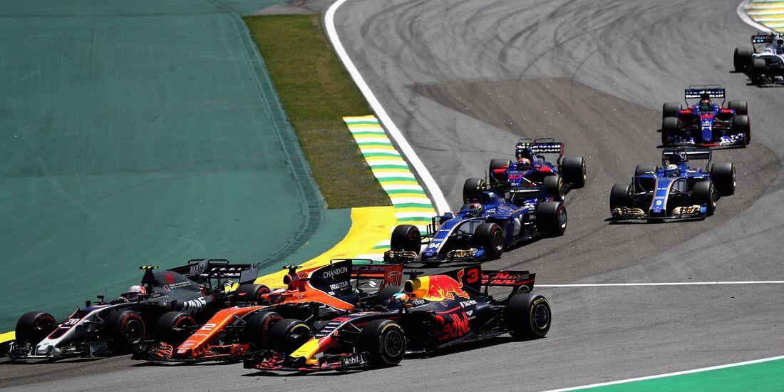 Kevin Magnussen - Stoffel Vandoorne - Daniel Ricciardo - Formel 1 - GP Brasilien - 12. November 2017