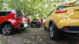 Kia Soul, Mini Cooper Countryman, Nissan Juke, Heckansicht