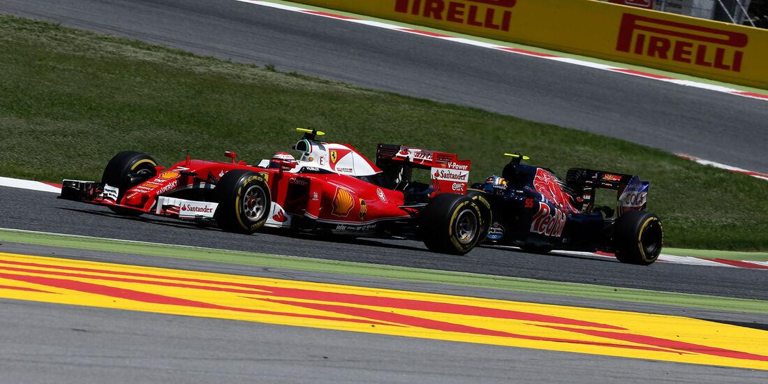 Kimi Räikkönen - Ferrari - Carlos Sainz - Toro Rosso - GP Spanien 2016 - Barcelona - Sonntag - 15.5.2016
