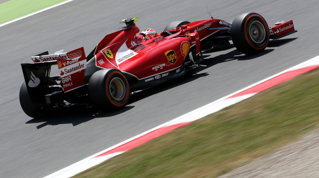 Kimi Räikkönen - Ferrari - Formel 1 - GP Spanien - Barcelona - 10. Mai 2014