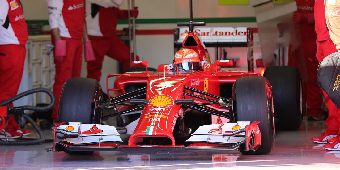 Kimi Räikkönen - Ferrari - Formel 1 - Jerez-Test - 28. Januar 2014