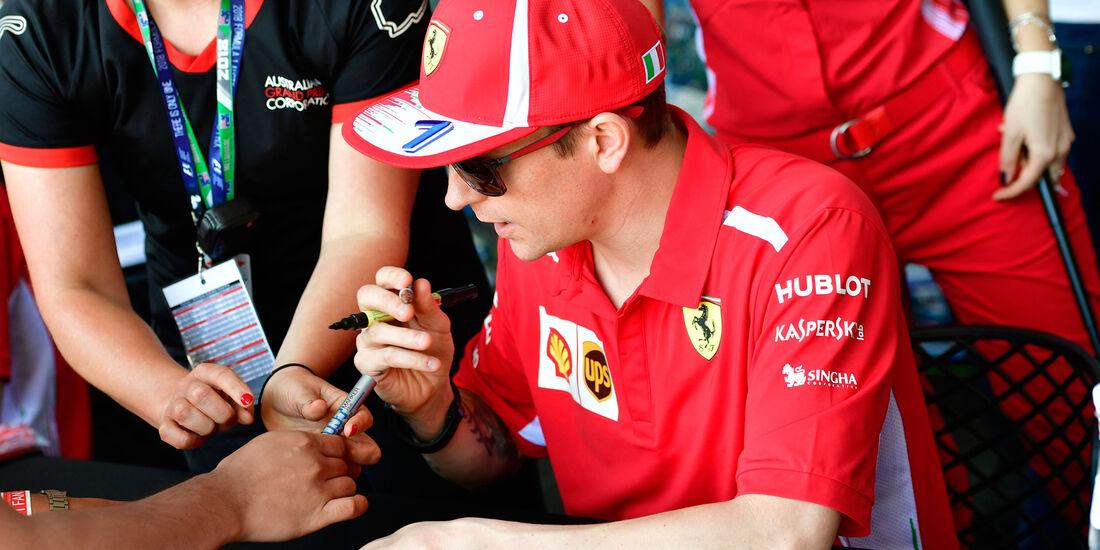 Kimi Räikkönen - Ferrari - GP Australien 2018 - Melbourne - Albert Park - Donnerstag - 22.3.2018