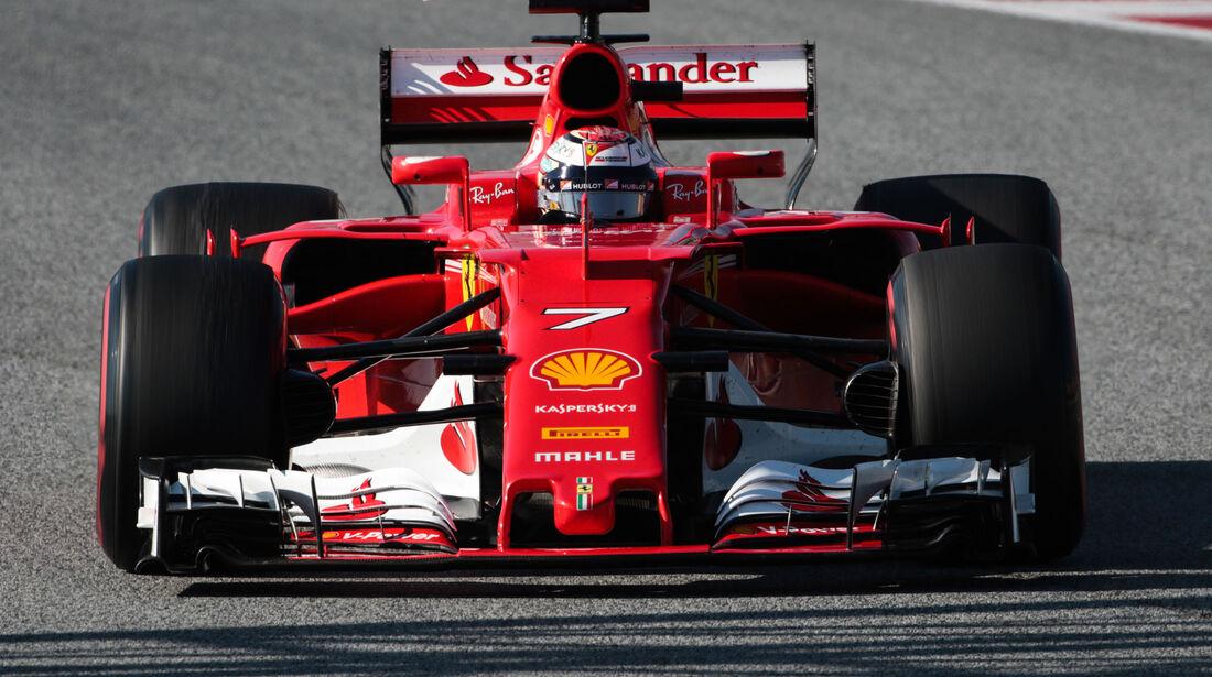 Kimi Räikkönen - Ferrari - Testfahrten - Barcelona - Freitag - 10.3.2017